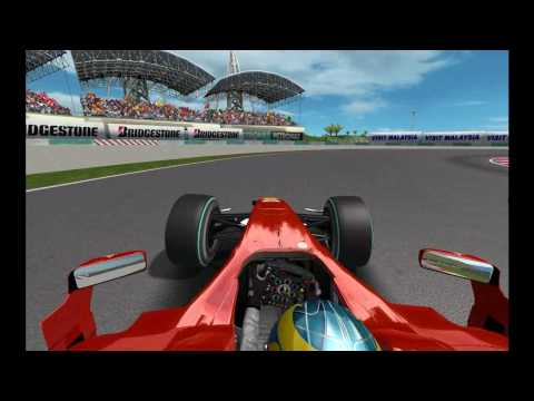 Rfactor Skins F1 2010 - Review cars . gameplay on board and tv camera