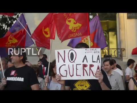 Spain: Leftists Decry US 'aggression Against Syria' Outside Embassy