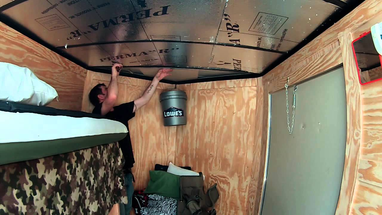 Insulating And Paneling For The Roof 6x10 Enclosed Trailer Conversion Project Youtube