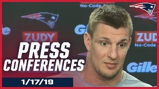 New England Patriots AFC Championship Game Press Conferences