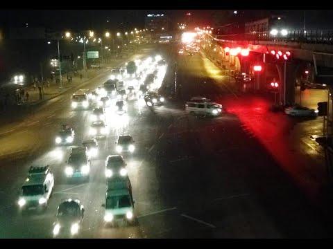 Night Traffic Timelaps Video- Addis Ababa