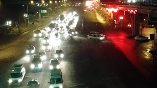 Night traffic timelaps video- Addis Ababa