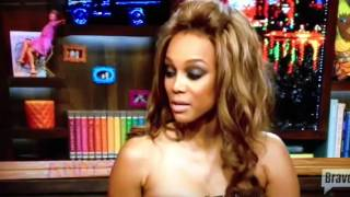 Tyra Banks talks Cynthia Bailey on WWHL