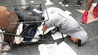 Hillary's Anarchist Supporters ATTACK Homeless Black Woman