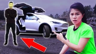 FOUND MY STOLEN TESLA & BREAKING IN (Mystery Hacker Drone)
