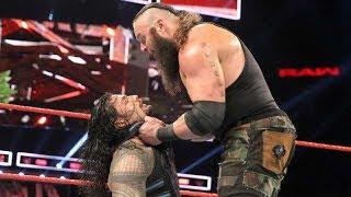 Braun Strowman attack on Roman Reigns WWE Raw 06/26/2017