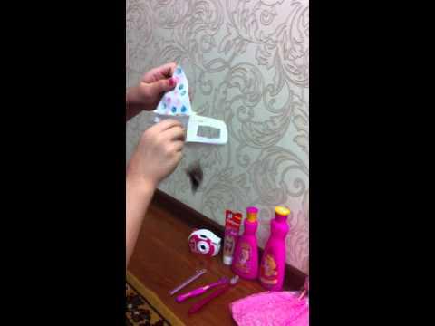 Видео мои вещи для барби своими руками