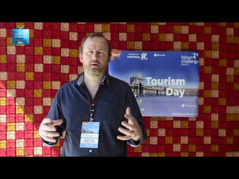 James Kirkby from Rewind Cities on the tools provided by Lisbon Challenge  | LC Tourism Day