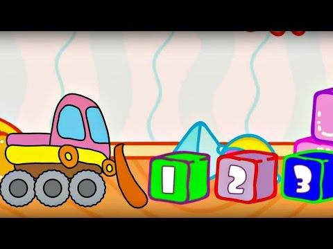 Çizgi film – Oyuncaklar – Kamyon ve buldozer