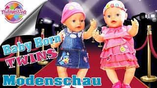 Baby Born ZWILLINGE Modenschau - Twins on stage | Mileys Welt