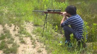 Blake shooting Savage 17mm HMR