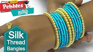 DIY / making silk thread checker model bangles / silk thread bangles making video