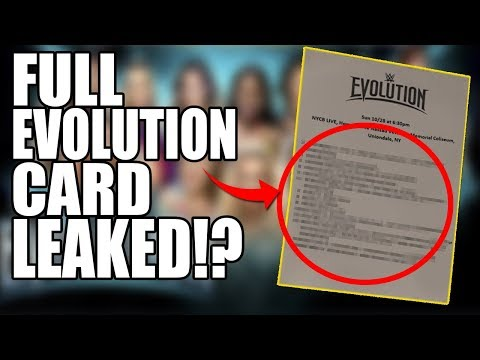 WWE's Evolution Full Card LEAKED!? Huge WWE Returns?