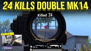 24 Kills Double Mk14 in Solo vs Squad | PUBG MOBILE HIGHLIGHTS | RAWKNEE SNIPING