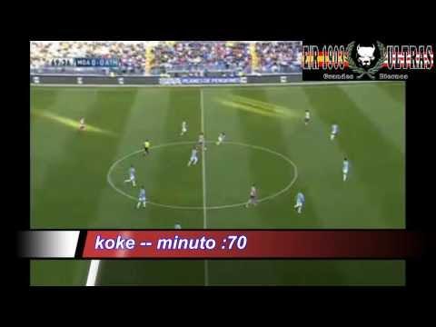 Málaga vs Atlético de Madrid 0-1/ KOKE 04/01/2014