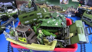 Toys for Kids MILITARY TOYS ! Tanks Soldiers Helicopter Trucks and More Military Toys-Box of Toys!