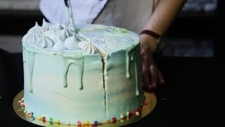 Confectioner's Hand Cuts down Birthday Cake into Three Parts   Stock Footage - Videohive