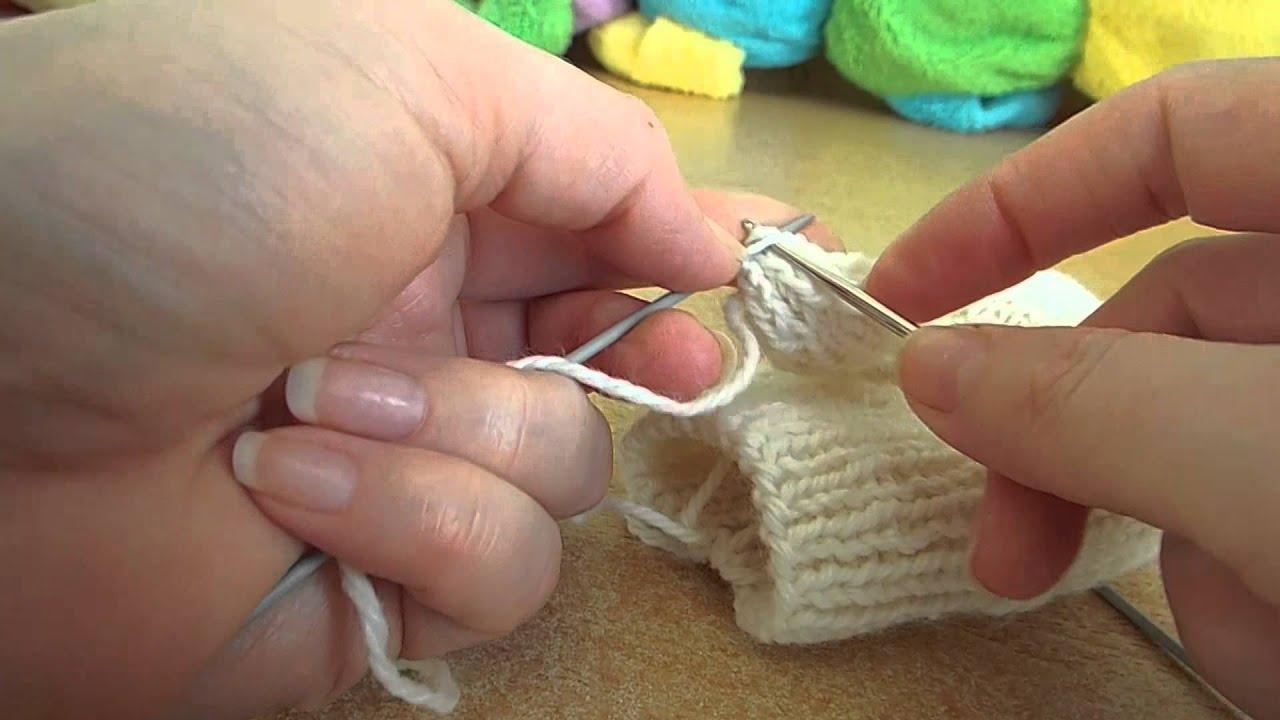Вязание варежек спицами от пальцев