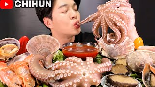 MOST POPULAR SEAFOOD | GIANT OCTOPUS, ABALONE, CONCH, CLAM, SCALLOPS, SHRIMP MUKBANG EATING SHOW