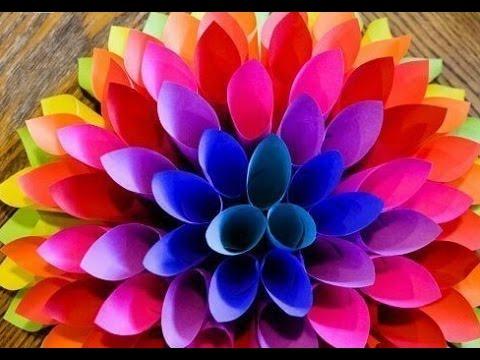 Как из бумаги сделать объемные цветы