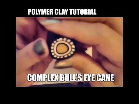 Polymer clay tutorial - Complex bull's eye