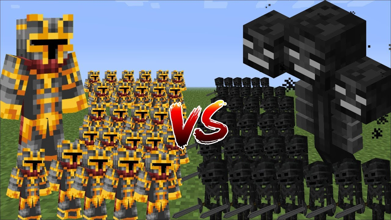 Minecraft 1000 SKELETONS VS 1000 MC NAVEED BATTLE MOD / FIGHT WITH MINI SOLDIERS!! Minecraft