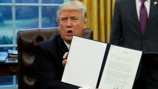President Trump signs executive orders on first day