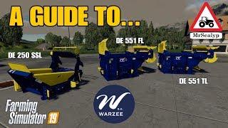 A Guide to... WARZEE (DE250SSL, DE551FL, DE551TL). Farming Simulator 19, PS4. Assistance!