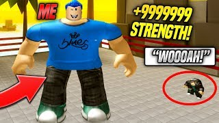 I AM THE STRONGEST PLAYER IN WEIGHT LIFTING SIMULATOR 3 (Roblox)