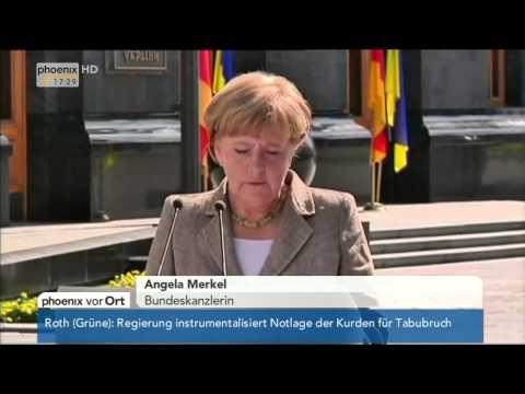 Ukraine-Krise: Petro Poroschenko & Angela Merkel zur Kreditbürgschaft am 23.08.2014