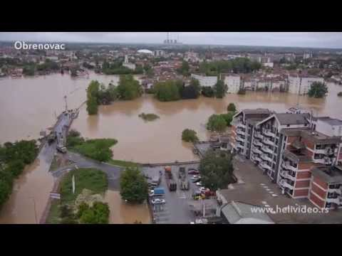 Poplave u Srbiji 2014. /Serbia floods aerial video