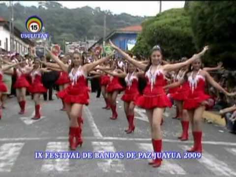 Mejores cachiporristas en Juayua 2009