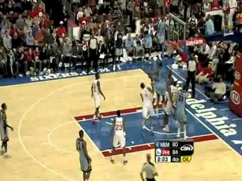 Dunk of the Night (01/28/2011): Rudy Gay's Monster Slam over the Sixers' ...