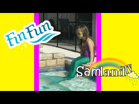Sammi Becomes a Mermaid   FIN FUN Mermaid Tail UNBOXING + Review + Tips + Swimming in the pool!