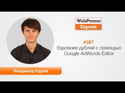 Удаление дублей с помощью Google AdWords Editor. В. Курий. TV #187