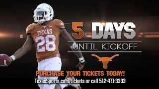 5 days until Texas Football season opener [Aug. 25, 2014]
