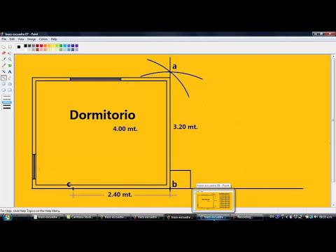 Drywall Lima Perú █▓▒░ Como hacer un trazo escuadra facilisimo.,