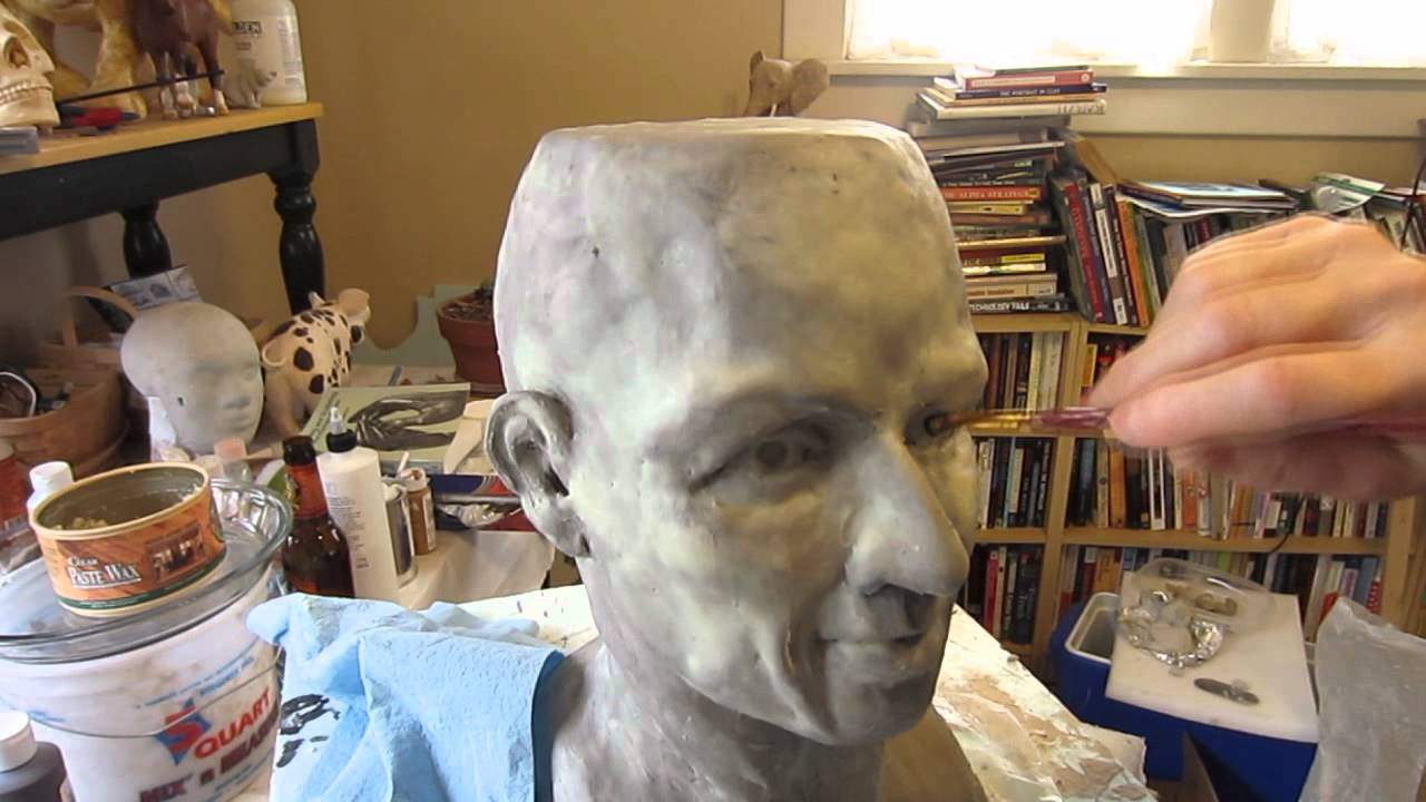 Paper mache head part 1 youtube for How to make a sculpture out of paper mache