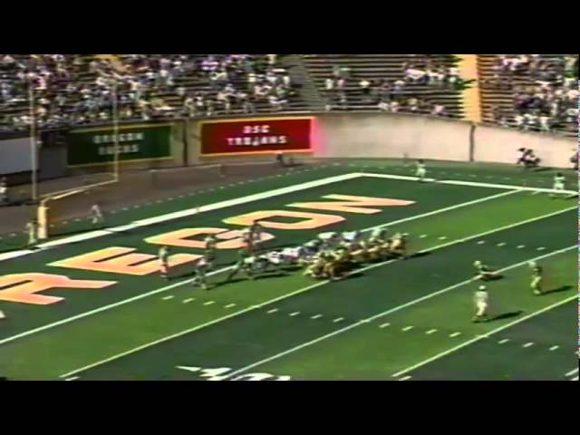 Oregon CB Daryle Smith 95 yard pick six interception return TD vs. NMSU 10-05-91