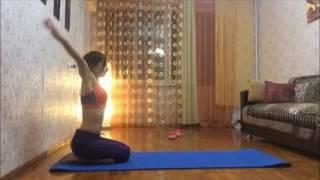 Йога для начинающих. Исправление осанки. Растяжка ног. Боли в спине