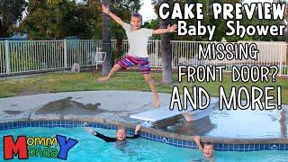 Shopping, Swimming, Baby Shower Sneak Peak & New Front Door || Mommy Monday