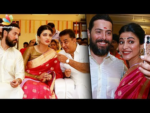 British boyfriend in Veshti for Kamal! | Shruti Hassan, Michael Corsale at Aadhav Wedding