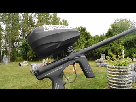 New Dye DSR Paintball Marker - shooting video and review