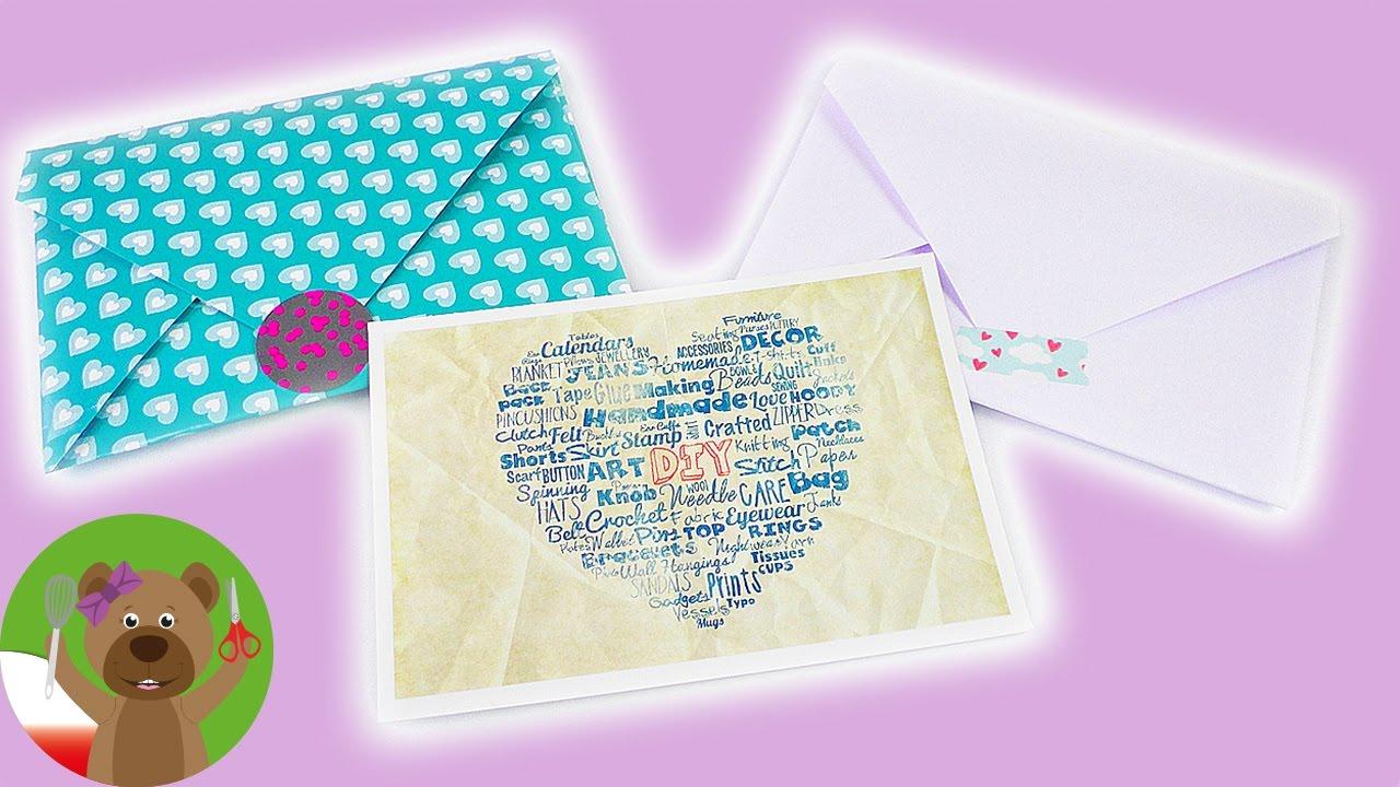 Składanie kopert   koperta z papieru A4   koperta na pocztówkę