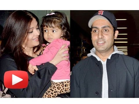 Abhishek Bachchan, Aishwarya Rai and Aaradhya Back From New York- PHOTOS