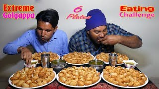Extreme Golgappa Eating Challenge | Panipuri Competition | Food Challenge India + Giveway