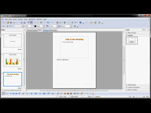OpenOffice.org Impress Presentations: Part One