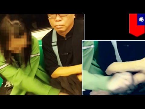 VIDEO: Dirty old man, nanghipo habang nagkunwaring tulog sa subway!