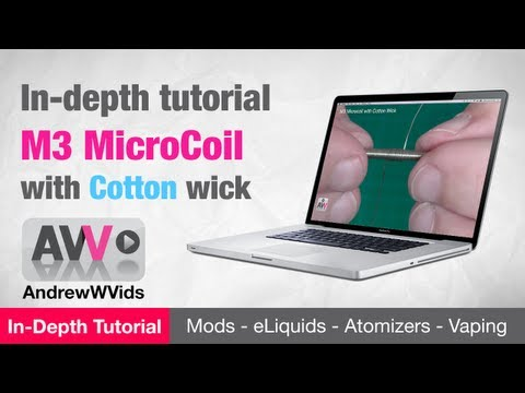 M3 MICROCOIL with COTTON WICK on a KAYFUN - TUTORIAL