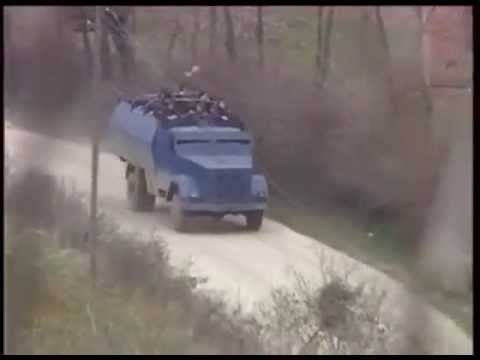 Serb attack on empty village in kosovo war 1999